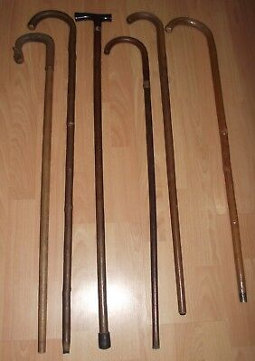 Vintage Walking Sticks X 3 In Great Useable Condition.