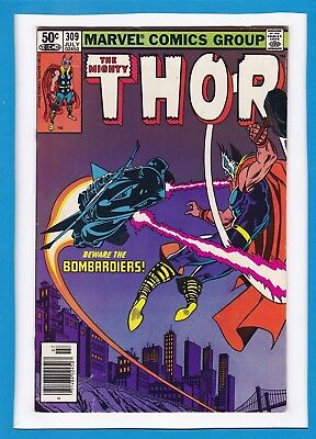 """Mighty Thor #309_July 1981_Very Fine_""""beware The Bombardiers""""_Bronze Age!"""