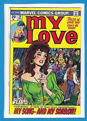 """My Love #28_May 1974_Vf Minus_""""my Song...and My Sorrow""""_Bronze Age Romance!"""