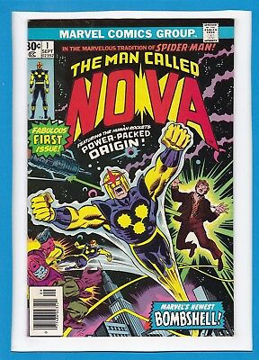 The Man Called Nova #1_September 1976_Very Good_Fabulous First Issue_Bronze Age!