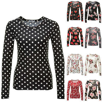 Hailys Damen Langarmshirt Longsleeve T-Shirt Shirt Stretch Print/Color Mix NEU