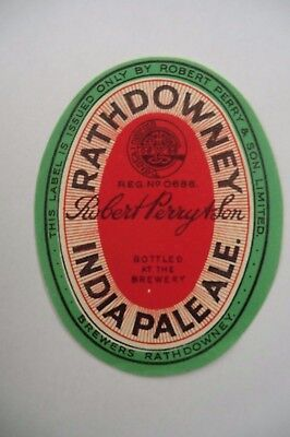 Mint Perry Rathdowney India Pale Ale Brewery Bottle Label