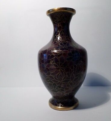Purple Cloisonne Vase