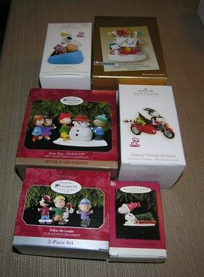 Hallmark ornaments - lot of Peanuts and Charlie Brown ornaments, new