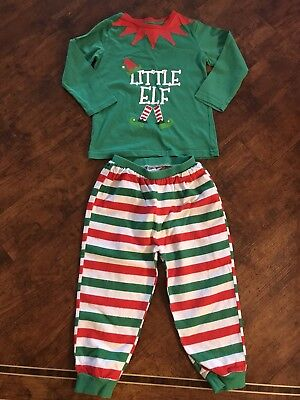 Boys Christmas Elf  Pjs Pyjamas Age 3-4 Years Girls Children's Nightwear