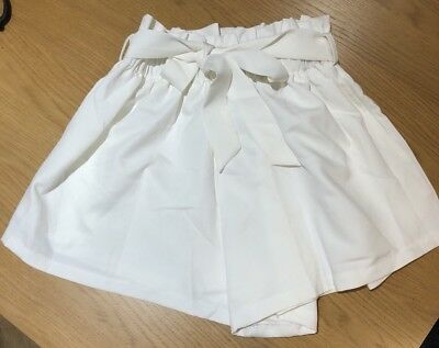 Missy Empire White High Waisted Bag Shorts Size 8 BNWT