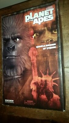 Sideshow collectibles 1/6 scale Planet of the Apes Gorilla Soldier New Mint Box