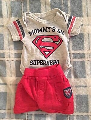 2 EUC Cute Newborn Outfits: Superman and Ninja Turtle Very Soft and Comfortable