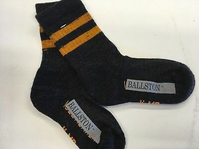 Icebreaker Ballston kids  Hike bike Light Crew Socks Black/ orange Medium 2 Pair
