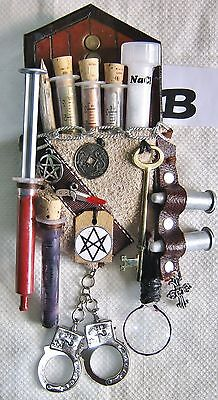 Hunter Magician Supernatural Monster Steampunk Kit Embellishment Grey Suede B