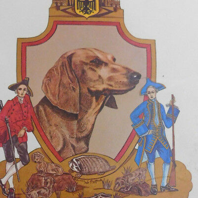 """""""The Dachshund"""" Dog A Courageous Huntsman Coat of Arms"""