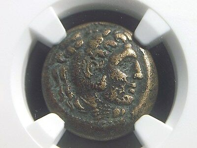 Authentic Greek coin of Alexander III The Great, Lifetime issue  NGC Ch F  7009