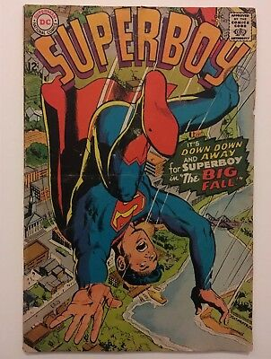 Superboy #143 Key Issue Classic 1st Neal Adams Cover for DC Comics 1967 VG