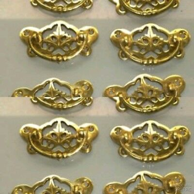 12 heavy handles polished pull solid brass heavy old vintage style drawer 72mm B