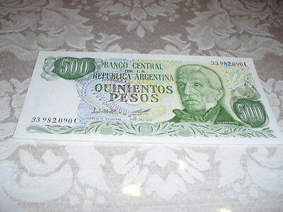 World Paper Money- 500, 5000, & 1,000000 Pesos Notes From Argentina