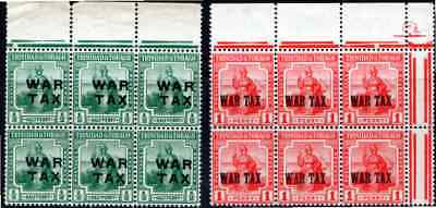 TRINIDAD and TOBAGO  WAR TAX  TWO *** M N H *** MULTIPLES