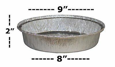"MontoPack 9"" Round Disposable Aluminum Foil Pie Pans (Pack of 50) Take Out Food"