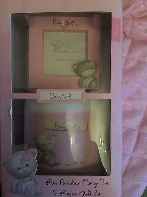 Baby Girl Money Box And Frame