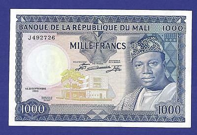 Uncirculated 1000 Francs 1960 Banknote From Mali !!! Super Huge Value !!!!