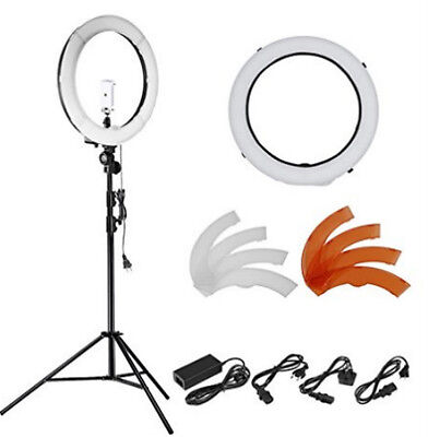"18""240 Pieces 5500K Dimmable LED Ring Light kit W Stand f Smartphone/Camera"