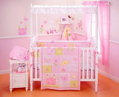 Nojo Baby Girl Princess Rose Wall Applique Removalable Decals Pink Bedroom NIP