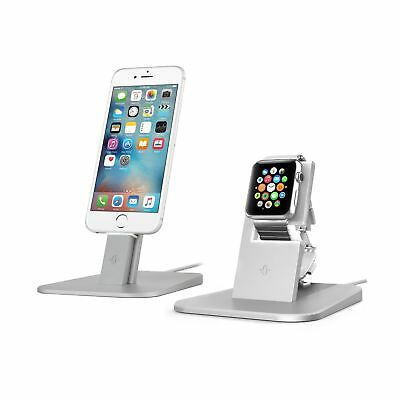Twelve South HiRise for Apple Watch & iPhone gift combo stands Silver   Charg...