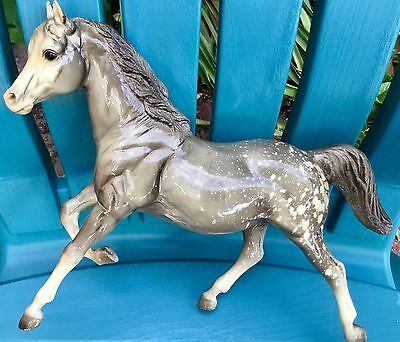 Breyer Horse Pony Vintage Glossy Dapple Gray Appaloosa Traditional Mare Running
