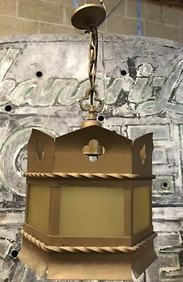 Antique Vintage Art Deco Nouveau Dungeon Gothic Lamp Light Fixture (W2)