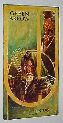 1987 Original DC Comics 28x15.5 vintage Green Arrow poster 1:1980s/Grell art/JLA
