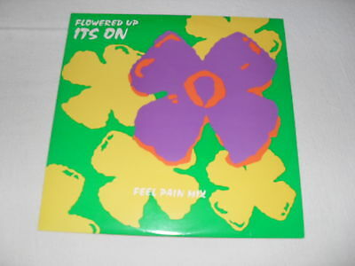 """Flowered Up - It's On (Feel Pain Mix) 10"""" etched vinyl Indie dance Heavenly"""