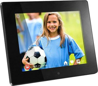 "Aluratek - 8"" LCD Wi-Fi Digital Photo Frame - Black"
