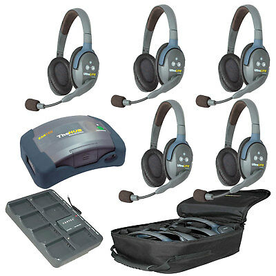Eartec HUB5-D  UltraLITE 5 Double Headset Wireless System + HUB FREE BAG
