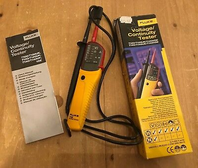 Fluke T120 Electrical Voltage Continuity Tester - Good Used Condition c/w Box