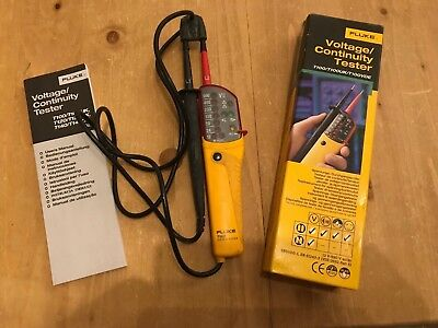 Fluke T100 Electrical Voltage Continuity Tester - Good Used Condition c/w Box