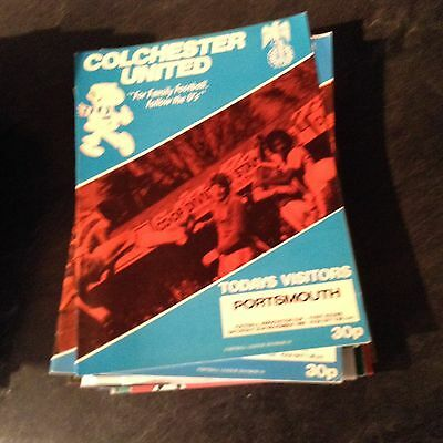 Colchester United V Portsmouth 22/11/80 F A Cup Rd 1