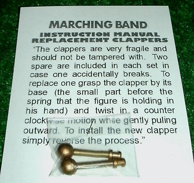 MR CHRISTMAS MARCHING BAND 2 CLAPPERS Repair Part spring hammer gong striker