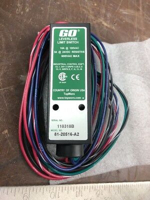 New Topworx 81-20516-A2 Leverless Limit Switch D572277 Free Shipping