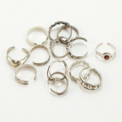 VTG Sterling Silver - Lot of 13 Assorted Toe Rings NOT SCRAP - 21g