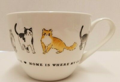 """home Is Where My Cat Is""~Bone China Mug/cup~Portobello By Inspire~Mint Cond"