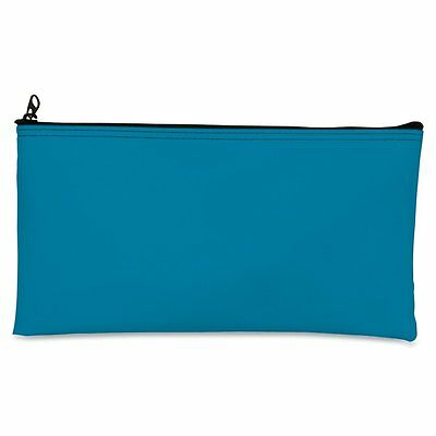 MMF Industries Leatherette Zipper Wallet, 11 X 6, Mariner Blue (2340416W38)