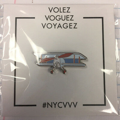 Louis Vuitton Volez, Voguez, Voyagez Exhibit Pin - Airplane NIB