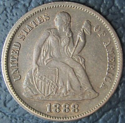 1888-S Liberty Seated Dime