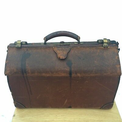Vintage London Harness Co. Boston- Brown Leather Medical Doctors Bag