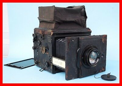 ICA REFLEX 752 Large Camera 10x15 + Carl Zeiss Tessar 18cm -Revolving Lens Board