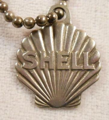 Vintage Figural Fob - Shell Oil Co Identification Number Key Chain