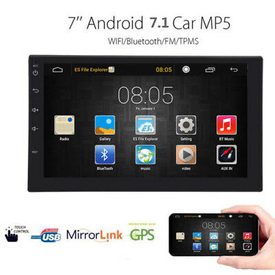 """7"""" 2DIN Android 6.0 Car Stereo MP5 Player Quad Core 3G WIFI Double Radio GPS TOP"""