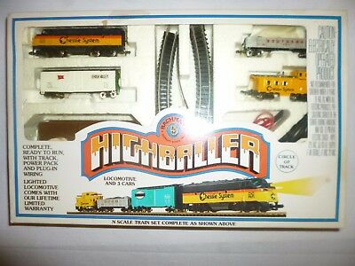 Bachman Highballer N Scale Electric Train Set w/track, power pack, etc. #50-4301