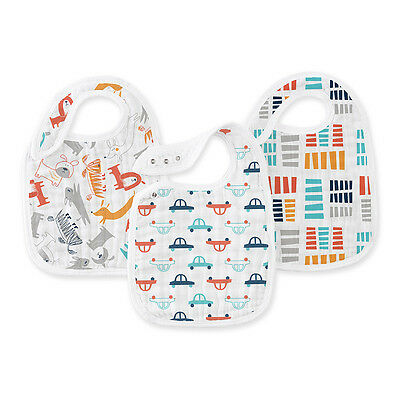 Aden & Anais 3 Pup and Tow Snap Bibs Easy to use Bib