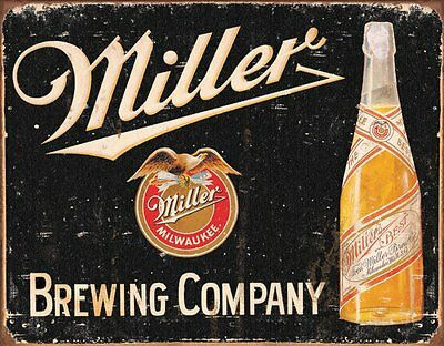 Miller Beer Brewing Vintage Style Tin Sign , 16x12, New, Free Shipping