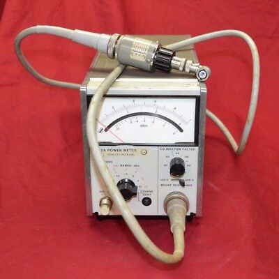 HP Agilent 432B power meter w/ 478A 200 THERMISTOR MOUNT cable * unable 2 test